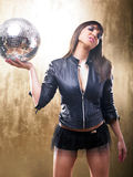 Sexy DJ Disco Girl Royalty Free Stock Photo