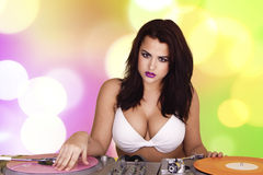 Sexy DJ. Royalty Free Stock Image