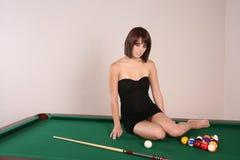 Sexy donkerbruine vrouw 39 Stock Afbeelding