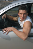 Sexy driver in a car Stock Images