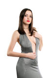 Sexy durchdachter Brunette lizenzfreie stockbilder