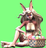 Sexy easter bunny. A modern style of a bunny Royalty Free Stock Images
