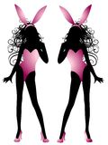Sexy Easter Bunny Fashion Model Women Royalty Free Stock Images