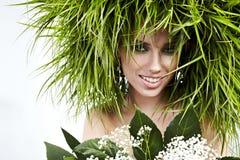 Sexy ecologiemeisje Stock Afbeeldingen