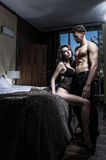 Sexy elegance couple Royalty Free Stock Images