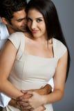Sexy etnisch paar in liefde stock foto