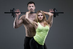 Free Sexy Exerciser Couple Royalty Free Stock Image - 50755916