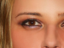Eyes. Of young lady Stock Photos