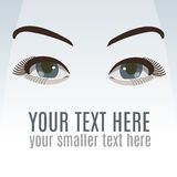 Eyes with makeup. Vector illustration on white backround Stock Illustration