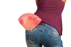 Sexy fan Stock Photo