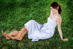 Farmgirl Fashion Model Stock Images