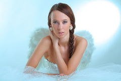Sexy fashion angel Stock Images