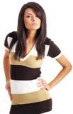 fashion girl isolated on white Royalty Free Stock Image