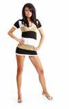 fashion girl isolated on white Stock Photos