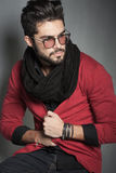 fashion man model dressed casual posing dramatic royalty free stock photography