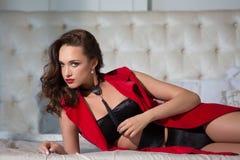 Sexy fashion model. Posing in modern interior Stock Image