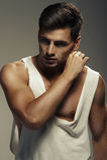 Sexy fashion portrait of male model Stock Photo