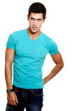fashion stylish young man Royalty Free Stock Photography