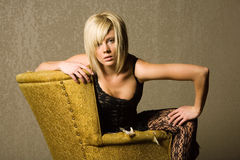Sexy fashionable blond girl Royalty Free Stock Photos