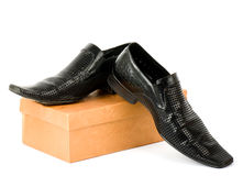 Sexy fashionable man's shoes Royalty Free Stock Photos