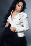 Sexy fashionable mulatto woman Royalty Free Stock Image