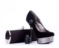 Sexy fashionable shoe and handbag Royalty Free Stock Image