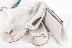 Sexy fashionable shoe and handbag Stock Images