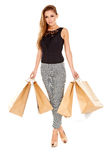 Sexy fashionable shopper Stock Photo