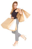 Sexy fashionable shopper Royalty Free Stock Photo