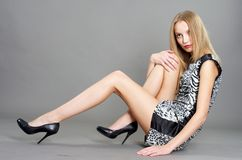 Sexy fashionable woman Stock Images