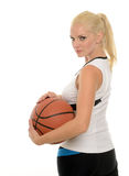 Sexy female basketball player - studio baller Stock Image