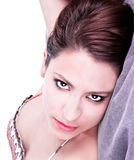 female with  beautiful dark eyes Royalty Free Stock Photos