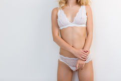 Sexy female body in lingerie Royalty Free Stock Images