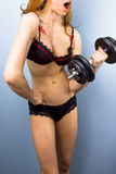 Sexy female bodybuilder Royalty Free Stock Images