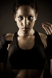 Sexy female boxer Royalty Free Stock Images