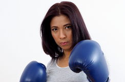 Sexy female boxer Royalty Free Stock Image