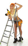 Sexy  Female Construction Worker Stock Image