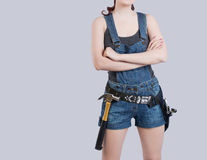 Sexy female construction worker Royalty Free Stock Photo
