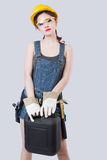 Sexy female construction worker Royalty Free Stock Photography