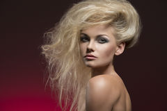 Sexy female with creative hairdo Stock Photography