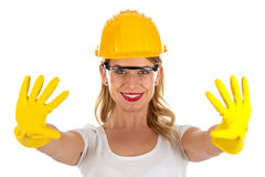 Sexy female engineer Stock Photography