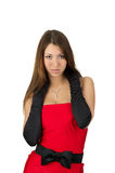 female in evening dress Royalty Free Stock Image