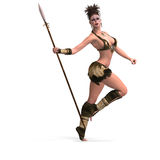 Sexy female fantasy Barbarian Royalty Free Stock Image