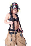 Sexy Female Firefighter Royalty Free Stock Image