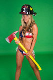 Sexy Female Firefighter Stock Photos