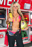 Sexy Female Firefighter Royalty Free Stock Images