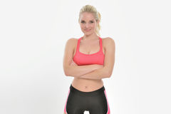 Sexy female fitness model Stock Photo
