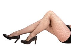 Sexy female legs Stock Images