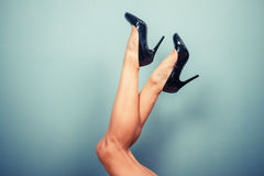 Sexy female legs in high heels Royalty Free Stock Images