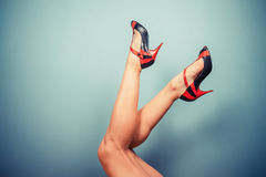Sexy female legs in high heels Royalty Free Stock Image